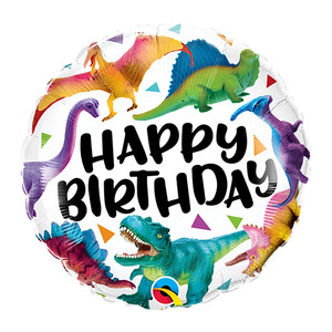 """18"""" Birthday Colorful Dinosaurs Foil Balloons"""