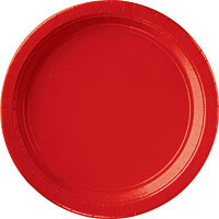 "Red Apple 10 1/2"" Paper Dinner Plates - 24 ct."