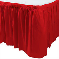 Red Apple Table Skirt 14' x 29""