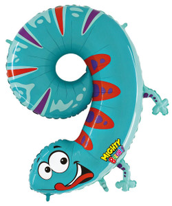 Mighty Number 9 Shaped Gecko Balloon