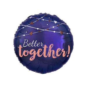 "17"" Navy Wedding Foil Balloon"