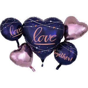 Navy Wedding Foil Balloon Bouquet