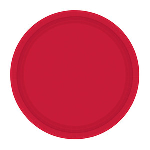 "9"" Plates Apple Red 20 CT"