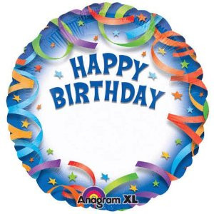 18 Inch Birthday Streamers Personalized Balloon