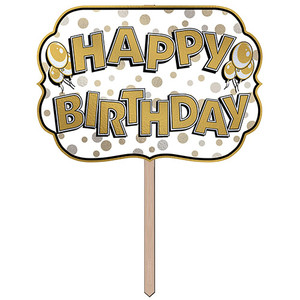 Foil Happy Birthday Yard Sign