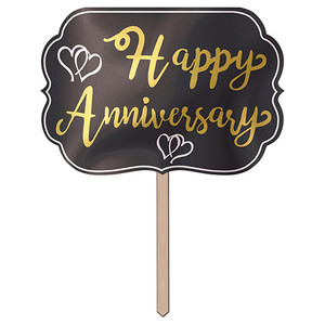 Foil Happy Anniversary Yard Sign
