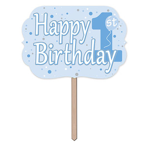 Blue 1st Birthday Yard Sign