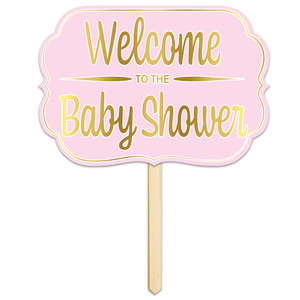 Welcome To The Baby Shower Foil Yard Sign