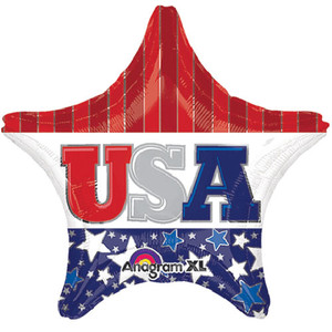 19-Inch Usa Star Shaped Balloon