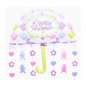 Hearts And Bears Baby Shower Umbrella