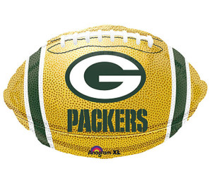 """NFL Green Bay Packers Football 18"""" Foil Balloon Double Sided"""