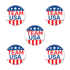 Team USA Party Buttons