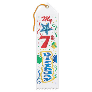 My 7th Birthday Jeweled Ribbon