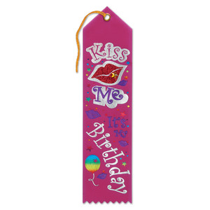Kiss Me, It's My Birthday Jeweled Ribbon