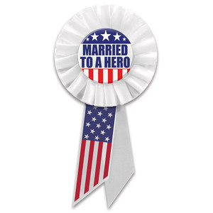 Married To A Hero Rosette