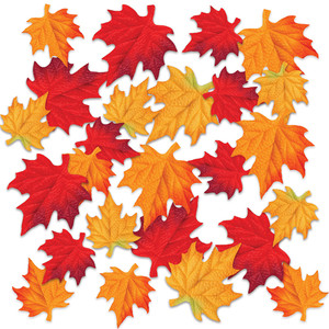 Deluxe Colorful Polyester Fabric Autumn Leaves