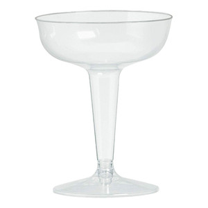 Clear Plastic Champagne Glasses Value Pack