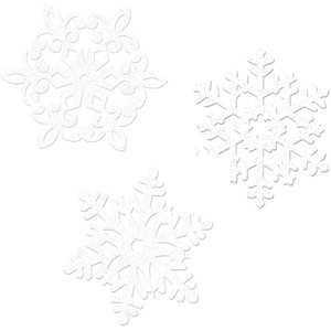 Glitter Snowflake Assorted Cutouts Value Pack