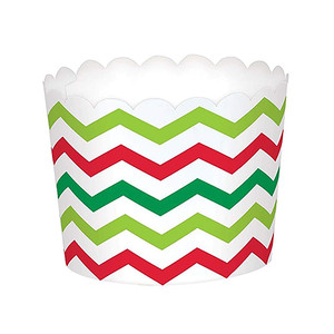 Christmas Scalloped Paper Treat Large Cups