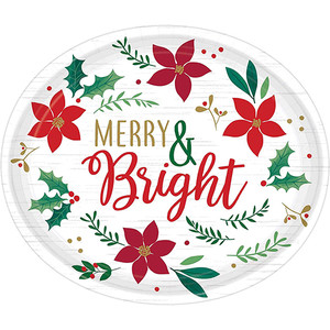 Christmas Wishes Oval Plates