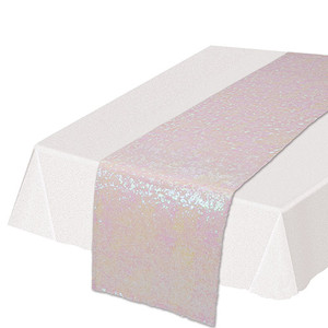 Opalescent Rectangluar Shiny Sequined Table Runner