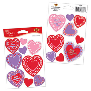 Lace Heart Stickers