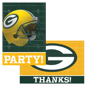 NFL Green Bay Packers Invitations And Thank You Notes Set