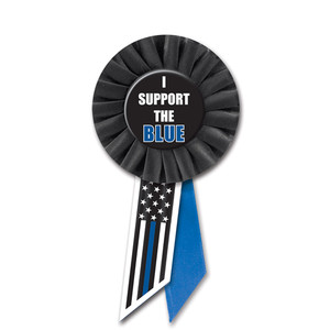 I Support The Blue Rosette