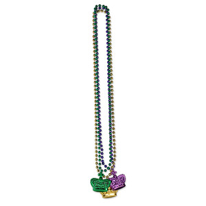 Beads with Crown Medallion