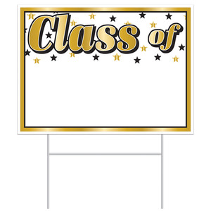 Class Of Blank Graduation Yard Sign With Stake