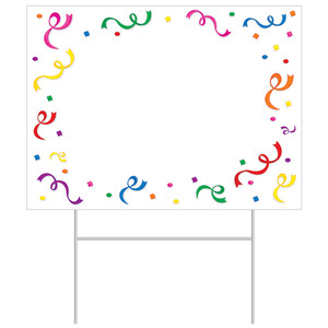Blank Yard Sign Birthday Party Outdoor Lawn Decorations