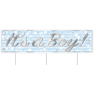 Jumbo It's A Boy Baby Shower Yard Sign With Stakes
