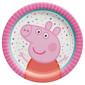 7″ Round Plates Peppa Pig Confetti Party
