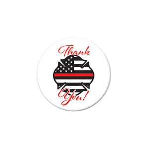 Thank You! Firefighters Button