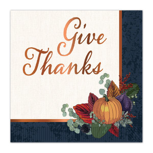Fall Thanksgiving Luncheon Napkins