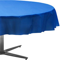 Marine Blue Round Tablecover 84""