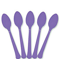 Purple Plastic Spoons - 24 ct.