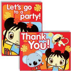 8 Ni Hao Kai-Lan Invitations/ Thank You's
