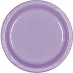 "Hydrangea 10 1/4"" Plastic Dinner Plates - 20 ct."