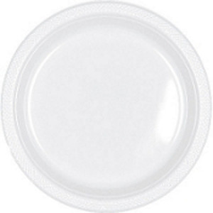 "Clear 9"" Plastic Lunch Plates - 20 ct."