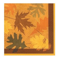 16 Turning Leaves Beverage Napkins
