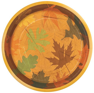 8 Turning Leaves Dessert Plates