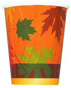 8 9oz Turning Leaves Paper Cups