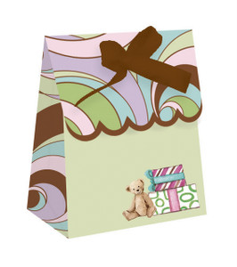 12 Parenthood Die Cut Favor Bags with Ribbon