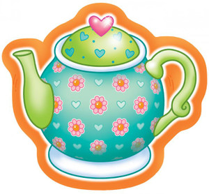 8 Tea For You Dinner Plates - Teapot Shaped