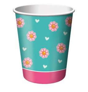 8 Tea For You Beverage Cups 9oz