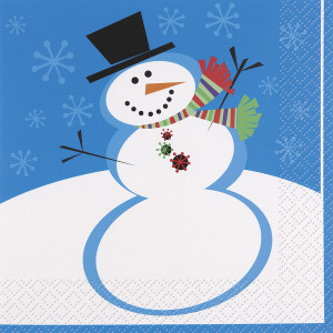 16 Stellar Snowman Lunch Napkins