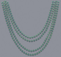 4 32 Inch Green Metallic Beads