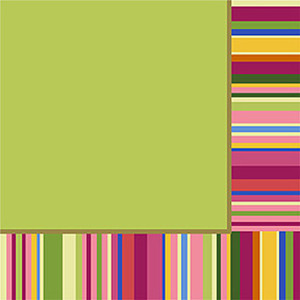 Colorful Stripes Luncheon Napkin 16 Pack