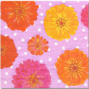 Polka Dots and Petals Luncheon Napkin 16 Pack